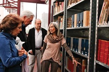 En 2011, con Patricia Llosa, María Kodama y Hernán Lombardi, en la Fundación Borges