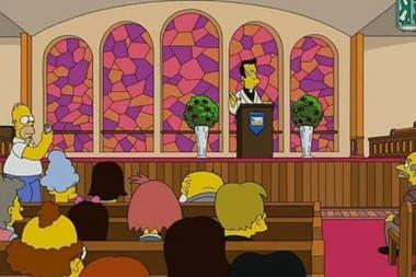 El episodio en la iglesia