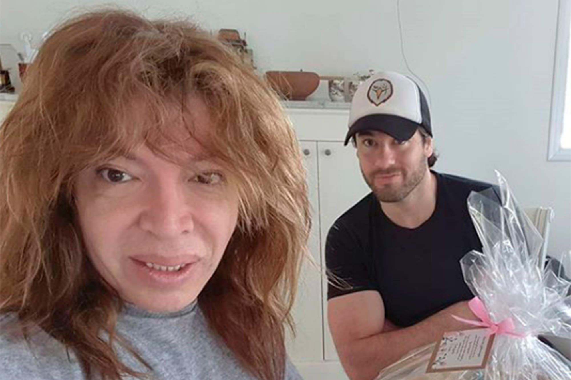 En el aire: el curioso festejo de cumpleaños de Lizy Tagliani con su novio, Leo Alturria