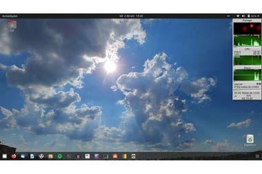 El software libre no solo es una forma de idealismo sino tambin un modo ms pragmtico y eficiente de usar computadoras en la imagen el Escritorio de la ltima versin de Ubuntu Linux