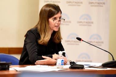 La directora ejecutiva de la Anses, Fernanda Raverta, defendió días atrás en el Congreso el proyecto de movilidad del Poder Ejecutivo