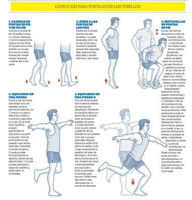 Ejercicios para fortalecer tobillos running