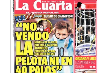 El hincha chileno que se quedó con la pelota del penal de Lionel ...