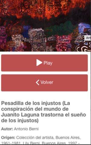 La aplicación del museo de Bellas Artes