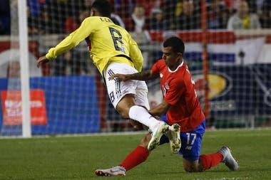 Cardona fue suplente en los dos amistosos de Colombia
