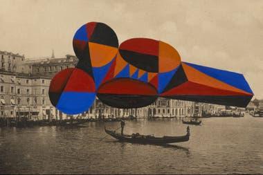 Sin título (2001), témpera sobre litografía de Alfredo Londaibere