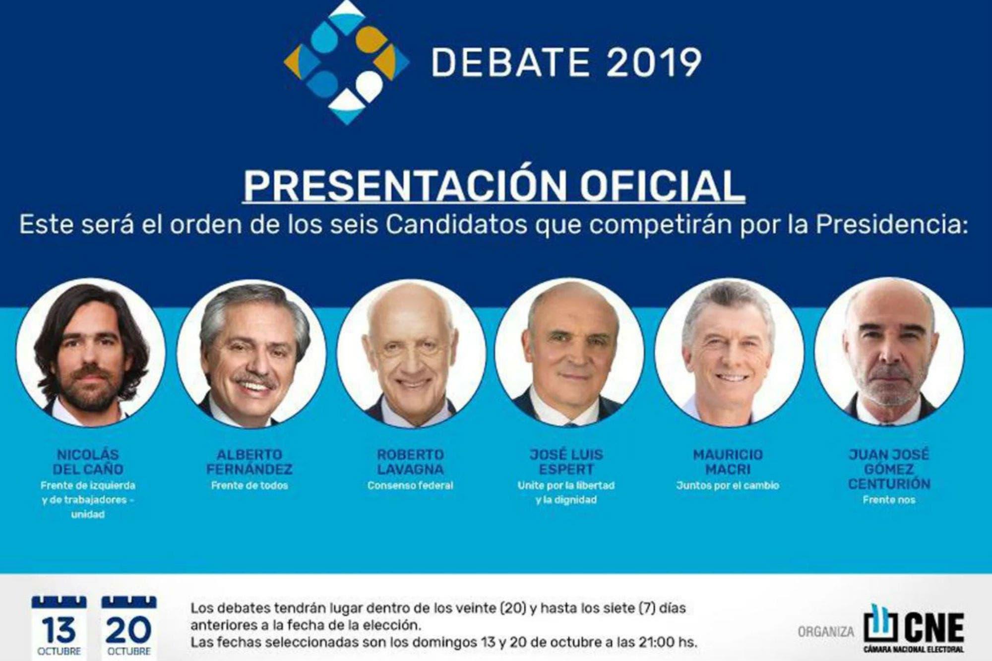 Debate presidencial en vivo: los candidatos hoy se enfrentan por primera vez