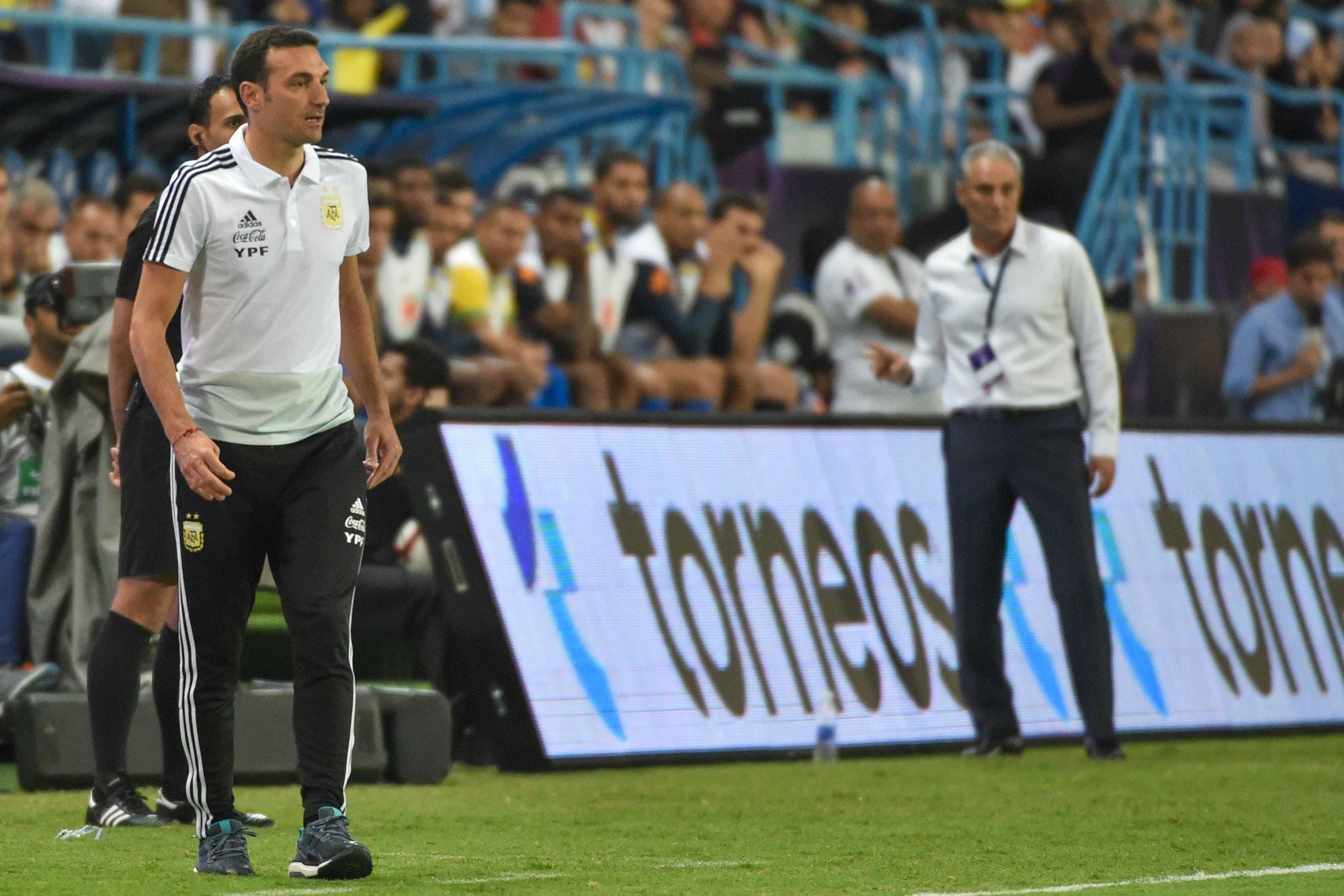 Argentina-Brasil: la reflexión de Scaloni sobre el partido y por qué no jugó Sergio Agüero