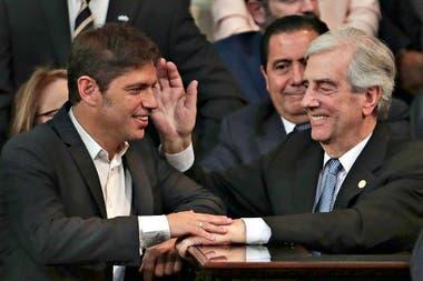 Tabaré Vázquez y el gobernador Axel Kicillof