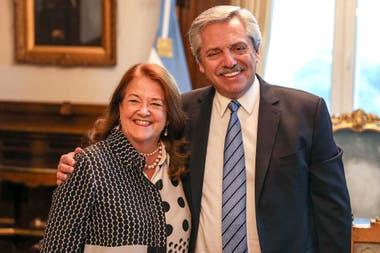 Alcia Castro y Alberto Fernádez