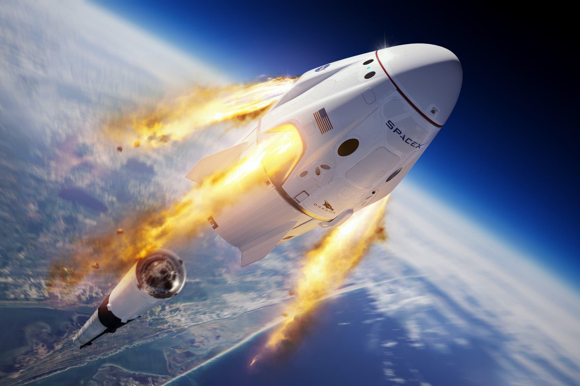 Cómo seguir en vivo el lanzamiento de la primera misión comercial tripulada de SpaceX y la NASA