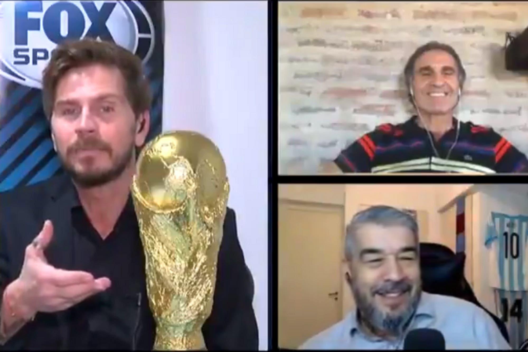 """""""Te la manda Codesal"""": la chicana del hijo del Pollo Vignolo a Oscar Ruggeri sobre el árbitro de la final del '90"""