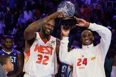 Shaquille O´Neal y Kobe Bryant fueron una pareja dominante según James, que los admiraba, y Davis.