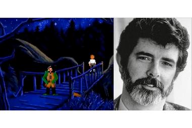 """El """"duende"""" que engaña a Guybrush en el puente no es más que un homenaje de Gilbert a quien fuera su jefe, George Lucas"""
