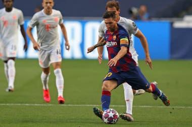 Lionel Messi estuvo presente en la goleada que recibió Barcelona frente a Bayern Munich por 8 a 2 en la Champions League de 2020