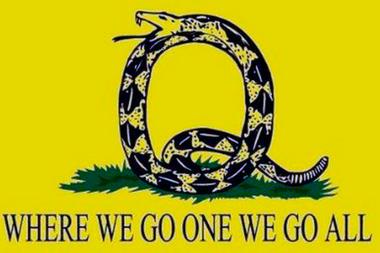 El símbolo de QAnon