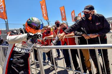 El festejo de Matías Rossi y Darío Ramonda, después del éxito en el autódromo Oscar Cabalén, en 2020; el director general de Toyota Gazoo Racing Argentina manifestó la posibilidad de que Julián Santero se sume a la categoría IMSA GT4