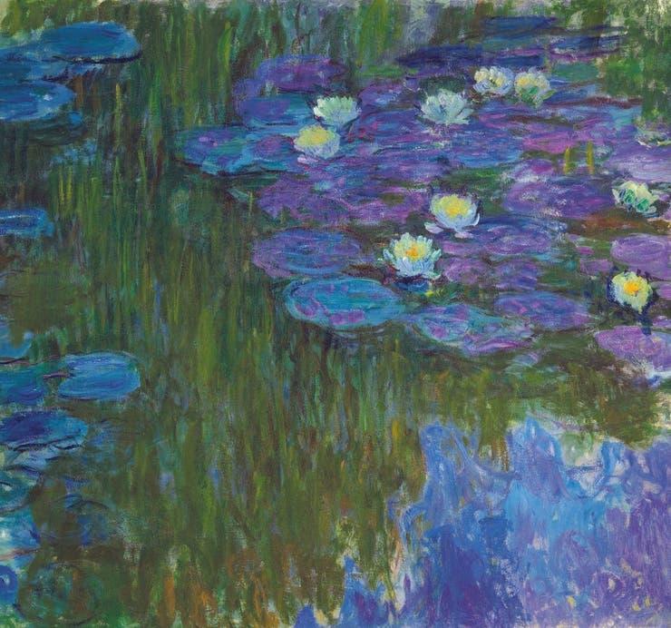 Llos Nenúfares en flor (1914-17) de Claude Monet, una serie a la que el artista dedicó los últimos veinte años de su vida, también integran la subasta