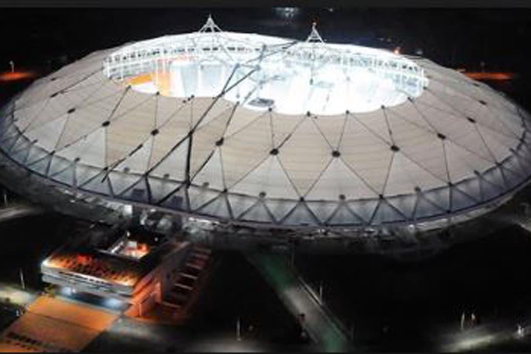Por el temporal  se rompió el techo del Estadio Único de La Plata