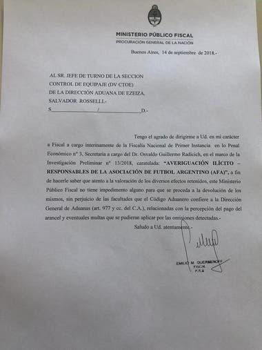 El dictamen del fiscal Emilio Guerberoff