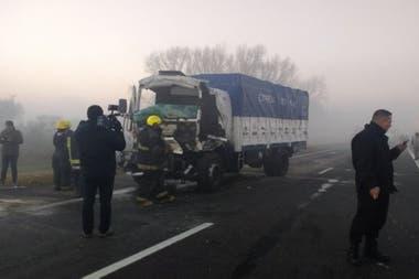 Tres personas resultaron heridas en un choque múltiple en la autopista Rosario-Santa Fe