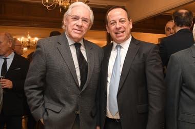 Rodolfo Pousá, presidente de Télam, junto a Martín Etchevers, presidente de Adepa