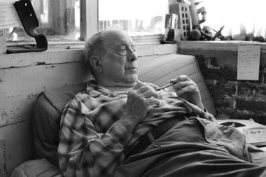 Robert Frank en su casa de Nueva York en 2007