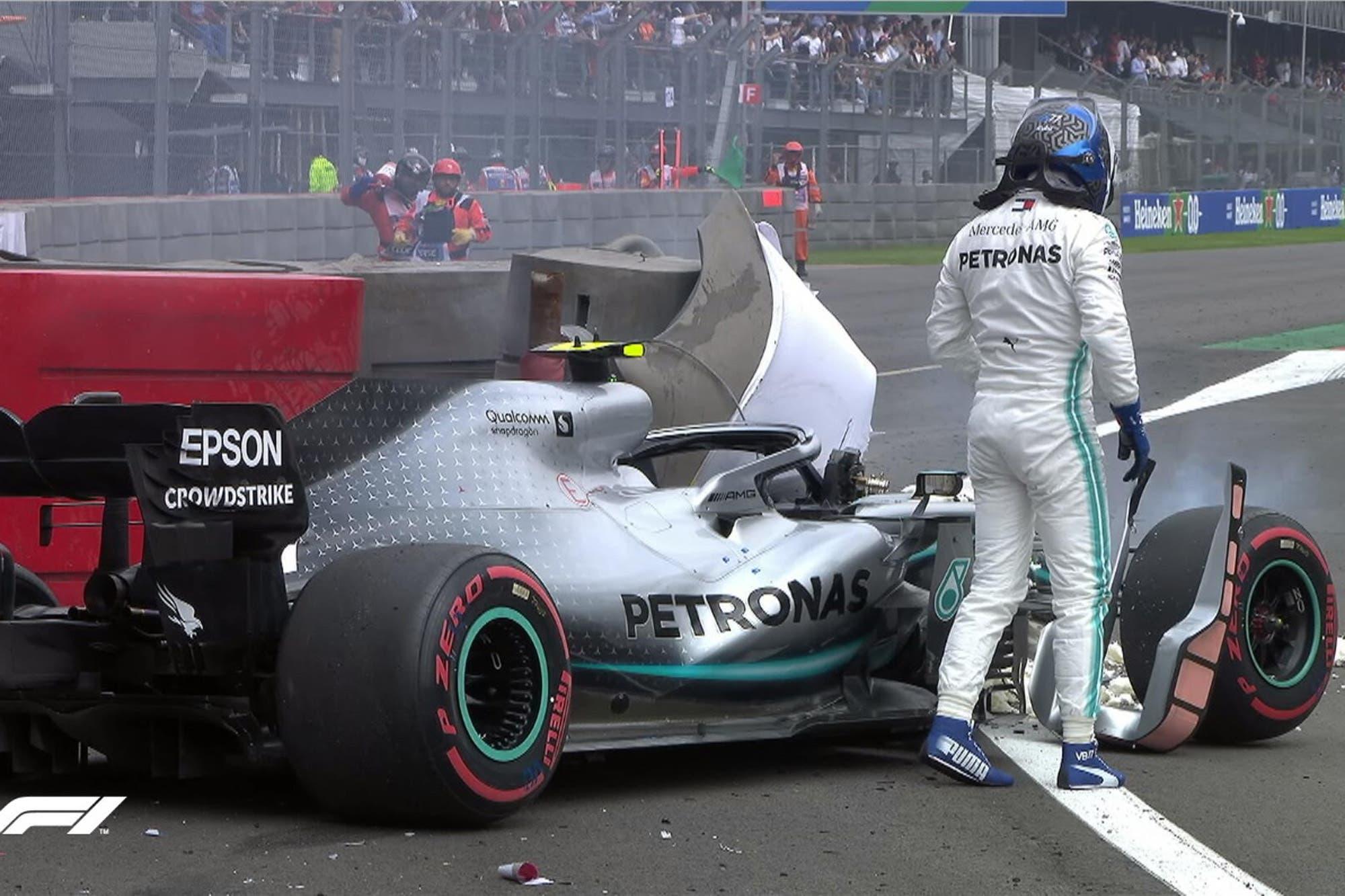 GP de México: el accidente de Valtteri Bottas que derivó en la sanción para Verstappen