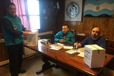 El voto en la base Carlini en la Antártida