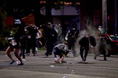 Choques entre manifestantes y policías