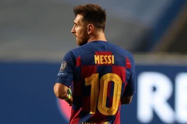 Messi con la camiseta N° 10 de Barcelona, una imagen que seguramente no volverá a repetirse