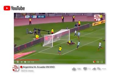 El nuevo paradigma televisivo que llega con las eliminatorias sudamericanas. Promoción de canal de youtube para ver las eliminatorias en Ecuador.