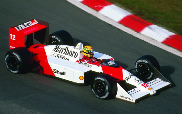 El McLaren MP 4-5. El auto que manejó Ayrton Senna en 1989, emotivamente incomparable