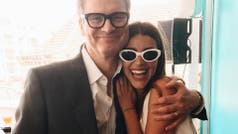 Calu Rivero, en Cannes, con Colin Firth