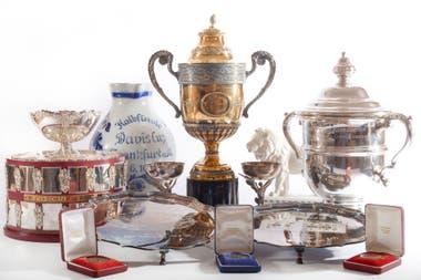 Premios obtenidos en su exitosa carrera puestos en subasta por Boris Becker