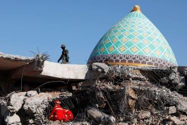 Varios pueblos y aldeas enteras quedaron reducidos a escombros