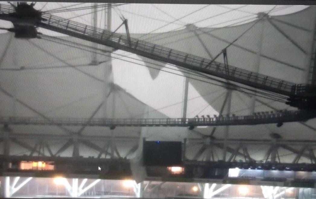 Por el temporal, se rompió el techo del Estadio Único de La Plata