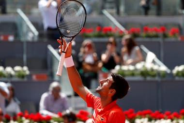 Novak Djokovic venció a Jaremy Chardy en Madrid