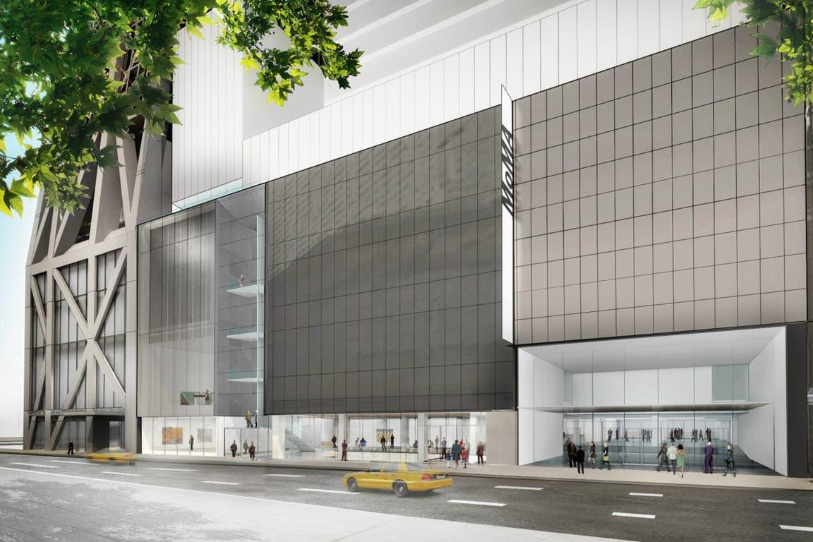 La fachada del edificio ampliado del MoMA, diseñada por los arquitectos Diller Scofidio + Renfro