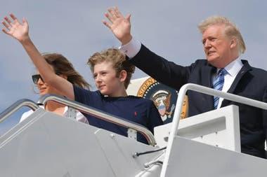 En 2017, Donald Trump involucró a su hijo que en ese entonces tenía 11 años en el escándalo del Rusiagate