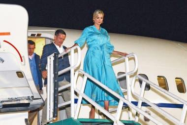 En turquesa monocromo, al llegar a la Argentina