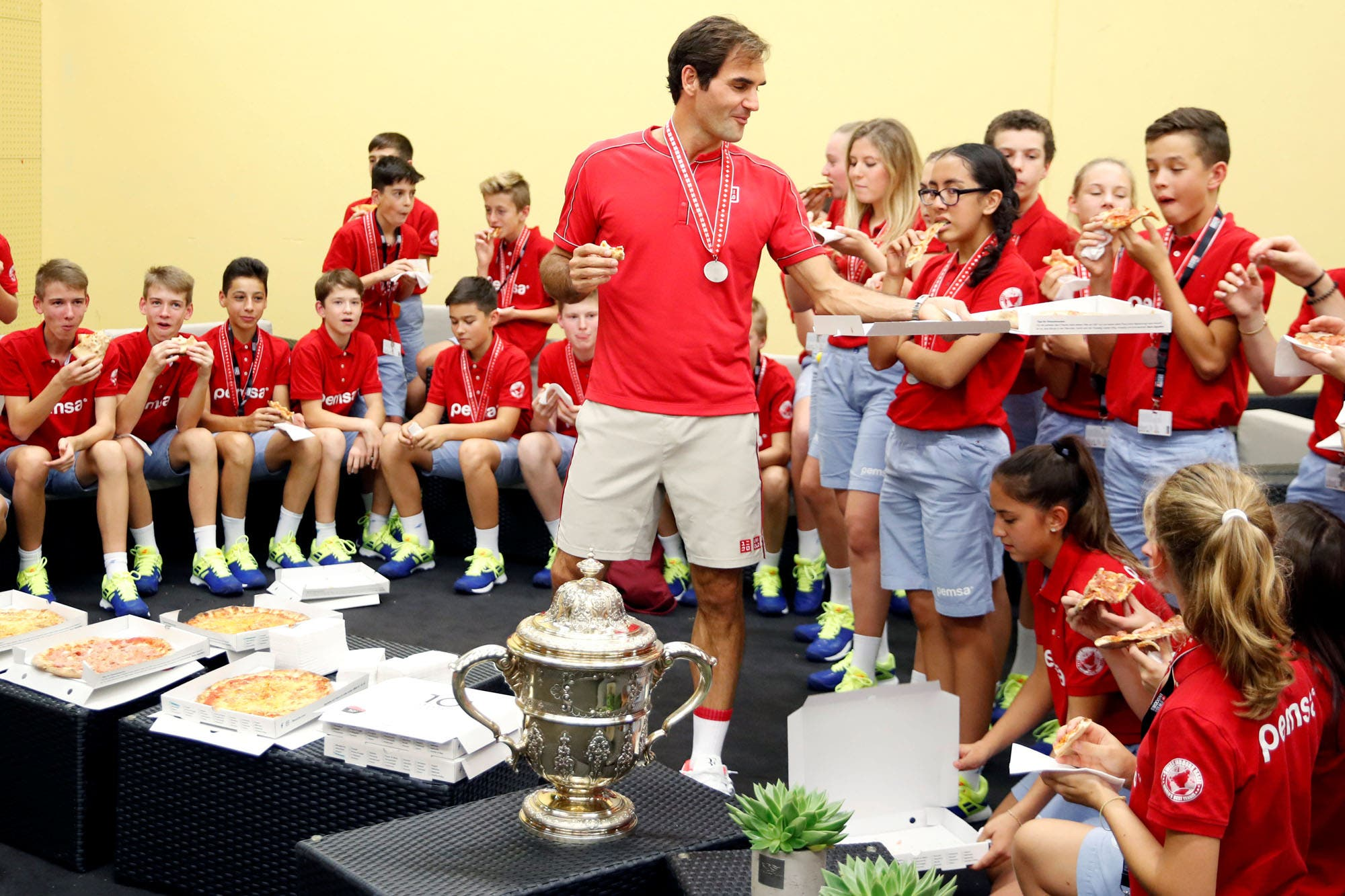Roger Federer, el pizzero de Basilea: un clásico después de salir campeón