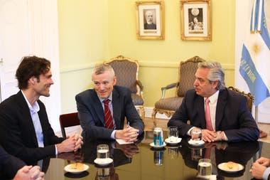 Phlipp Schindler, vicepresidente senior y chief business officer de Google, visitó a Alberto Fernández en la Casa Rosada