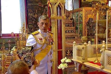 Maha Vajiralongkorn, el día de su coronación, en mayo del año pasado