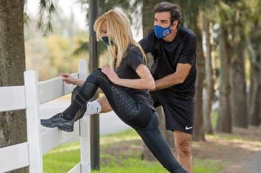 """Hace actividad física todos los días motivada por un """"entrenador personal"""" muy especial: su pareja desde hace tres años, Ignacio Castro Cranwell"""