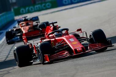 El piloto alemán de Ferrari, Sebastian Vettel