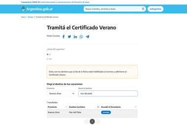 Certificado Verano, el paso a paso para gestionar el permiso para vacacionar en la Costa Altántica y otras localidades bonaerenses