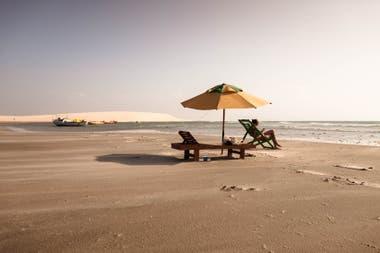 Playas desiertas en Jericoacoara, en el estado de Ceará. Sebastián Pani.