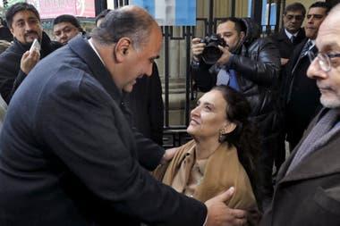 Gabriela Michetti y Juan Manzur en el tedeum en Tucumán
