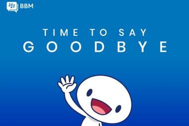 El mensaje de despedida de BlackBerry Messenger, que dejará de funcionar el 31 de mayo y apuntará al sector corporativo con el chat BBMe